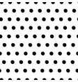 black dot seamless background pattern wallpaper vector image vector image