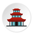buddhist temple icon circle vector image vector image