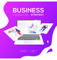 business strategy - flat design style colorful web vector image vector image