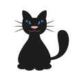 Cartoon Black Cat vector image