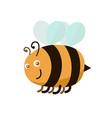 cartoon color bee vector image