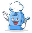 chef pencil sharpener character cartoon vector image vector image