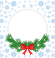 christmas round vector image vector image