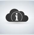 cloud computing icon information icon sign vector image vector image