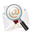 Concept - search e-mail vector image vector image