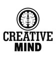 creative mind logo simple style vector image