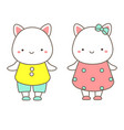 cute dressed kitten animals kawaii cats vector image vector image