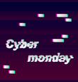 cyber monday glitch vector image
