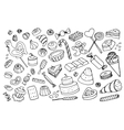 Doodle sweets vector image