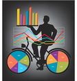 economic results presentation vector image vector image