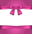 Elegance pink wrapping with ribbon bow vector image vector image
