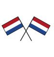 flag of the netherlands stylization of national vector image vector image