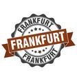 frankfurt round ribbon seal vector image vector image