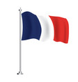 french flag isolated wave flag france country vector image vector image