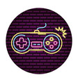 gamepad control video game neon vector image vector image