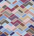 geometric patchwork pattern in trend colors vector image vector image