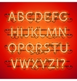 Glowing Neon Red Alphabet vector image vector image
