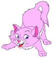 graceful cartoon cat vector image vector image