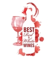 hand drawn of wine banners vector image vector image