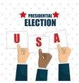 hand raised election presidential usa graphic vector image