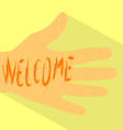 hand welcome vector image