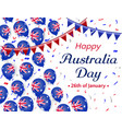 happy australia day 26 january helium balloons vector image vector image