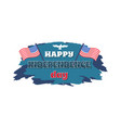 happy independence day white vector image vector image