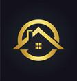house icon rogold logo vector image vector image