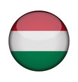 hungary flag in glossy round button of icon vector image