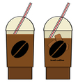 Iced coffee vector image vector image