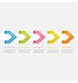 Infographic five step with ribbon arrow dashed vector image vector image