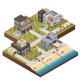 isometric building estate composition vector image vector image