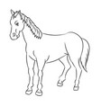line drawing of horse -simple line vector image vector image