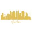 London City skyline golden silhouette vector image vector image