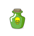 Magic Bottle with a skull Medical bottle with a vector image vector image