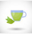 matcha tea flat icon vector image