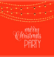 merry christmas party orange light background vector image