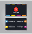 modern business card template design vector image