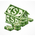 Money house made vector image