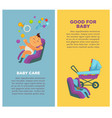 motherhood baby care newborn child posters vector image