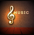 music with violin key lighting vector image vector image