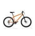 new orange bicycle vector image vector image
