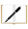 Note pad and handle vector image