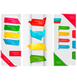 Origami paper banners vector | Price: 1 Credit (USD $1)