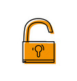 padlock object symbol to security protection vector image vector image