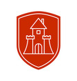 protection house symbol security house sign vector image vector image
