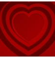 Red spiral heart vector image vector image