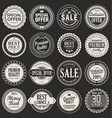 retro labels and badges 2 vector image vector image