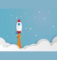 rocket launcher startup business concept vector image
