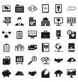 safety business icons set simple style vector image vector image